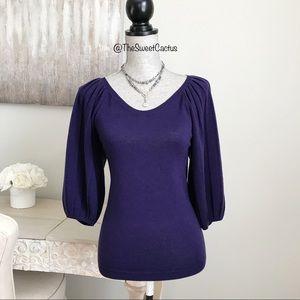 Ann Taylor Loft Puffy 3/4 Sleeve Sweater